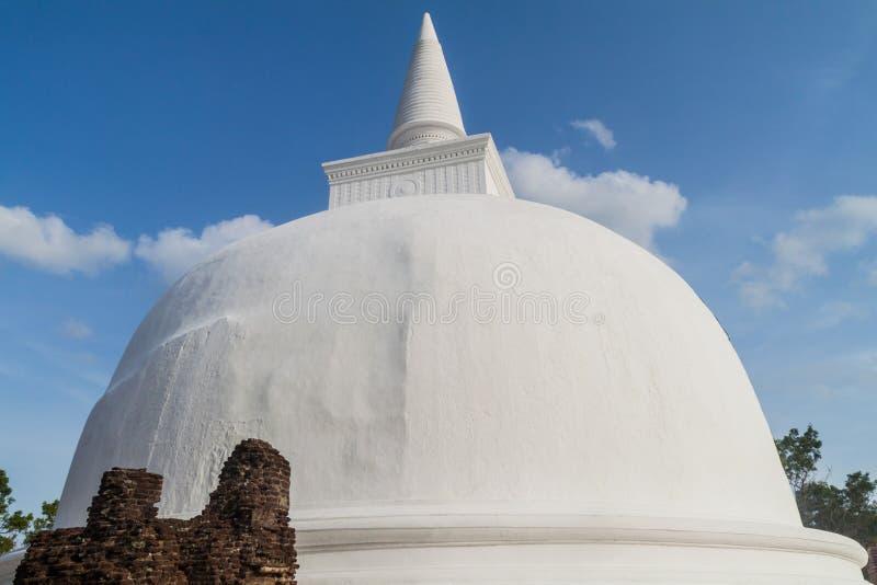 Kiri Vihara na cidade antiga Polonnaruwa, Lan de Sri imagem de stock royalty free