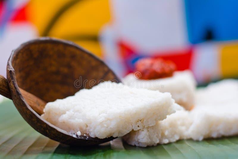 Kiribath dojni ryż jest tradycyjnym lankijczyka jedzeniem obraz royalty free