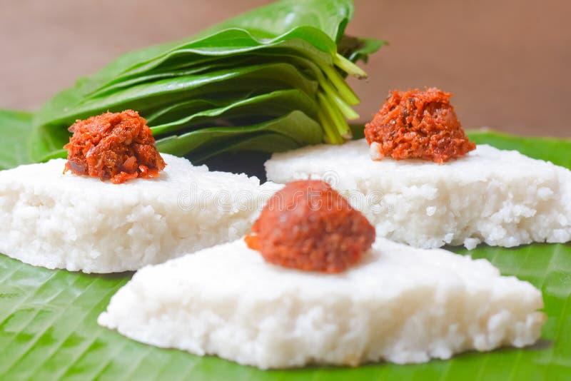 Kiribath, el arroz de la leche es una comida srilanquesa tradicional imagenes de archivo