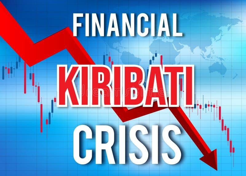 Kiribati Financial Crisis Economic Collapse Market Crash Global Meltdown. Illustration royalty free illustration