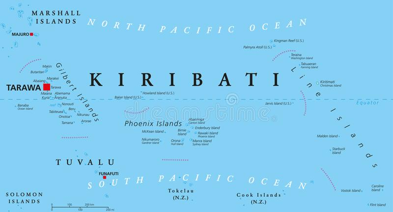 Kiribati Political Map stock vector Illustration of phoenix 105042821