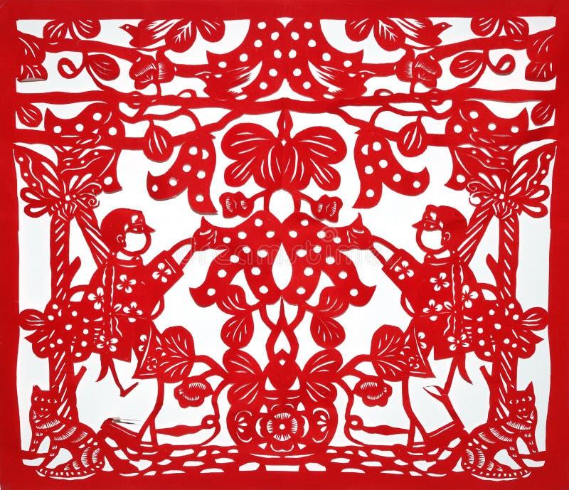 Kirigami tradicional chino foto de archivo