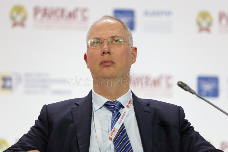 Kirill Dmitriev. MOSCOW, RUSSIA - JAN 16, 2018: Kirill Dmitriev - Russian financier and investor, General Director of JSC ` Management company Of the Russian stock image