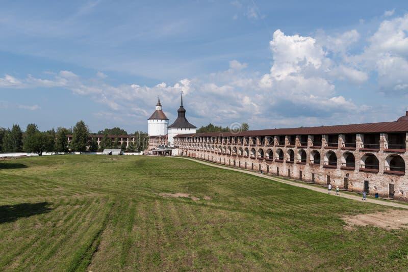 Kirillo-Belozersky修道院 俄罗斯正教会的修道院, 位于在基里尔洛夫内,沃洛格达州地区 库存照片