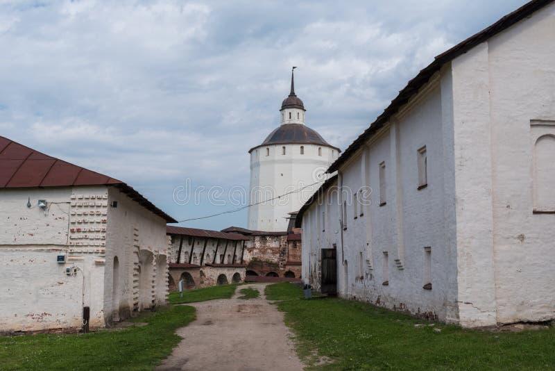 Kirillo-Belozersky修道院 俄罗斯正教会的修道院, 位于在基里尔洛夫内,沃洛格达州地区 免版税库存照片
