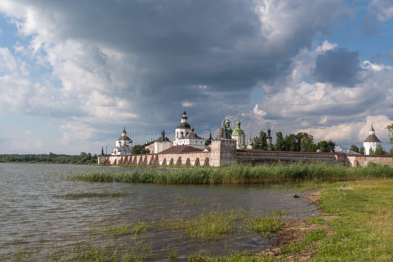 Kirillo-Belozersky修道院 俄罗斯正教会的修道院, 位于在基里尔洛夫内,沃洛格达州地区 免版税库存图片