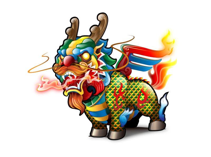 Kirin chino ilustración del vector