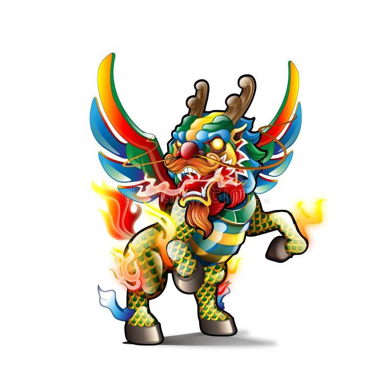 Kirin chinois illustration de vecteur