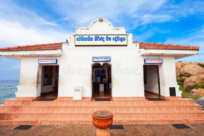 Kirinda Viharaya寺庙, Tissamaharama 库存照片