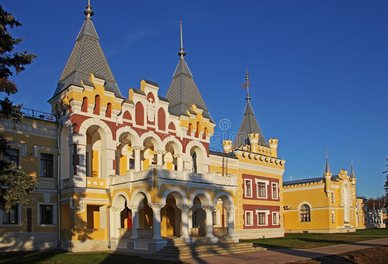 Kiritsy, Ryazan region, Russia. Manor estate of Baron Von Derviz, Kiritsy, Ryazan region, Russia royalty free stock photo