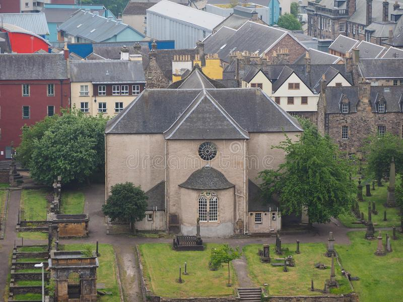Canongate Kirk in Edinburgh. The Kirk of the Canongate in Edinburgh, UK royalty free stock image