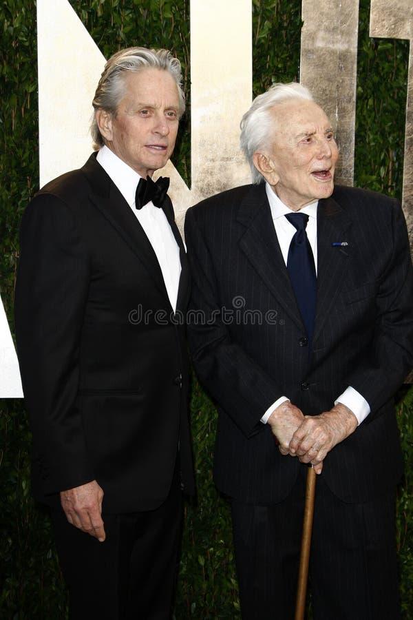 Kirk Douglas, Michael Douglas, Vanity Fair foto de stock