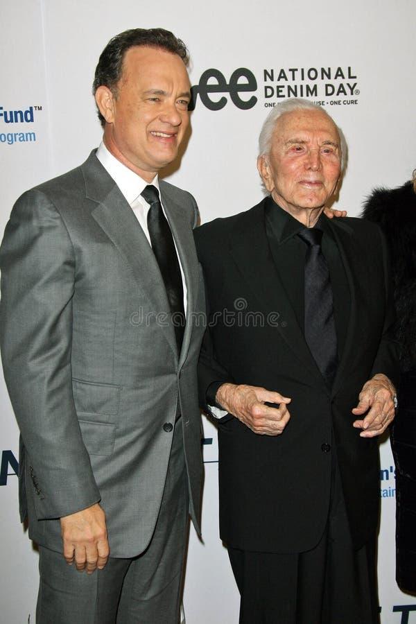 Download Kirk Douglas,Tom Hanks editorial photo. Image of four - 25133276