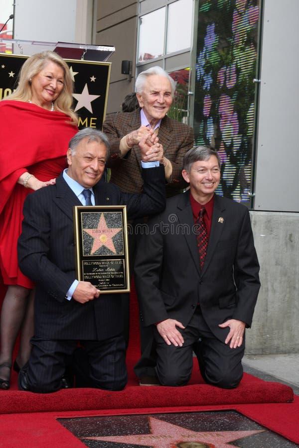 Download Kirk Douglas, Zubin Mehta editorial image. Image of officials - 20936430