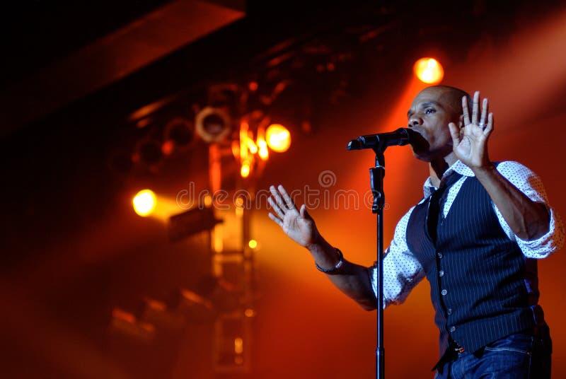 Kirk Franklin. Gospel singer Kirk Franklin performs during a concert stock photography