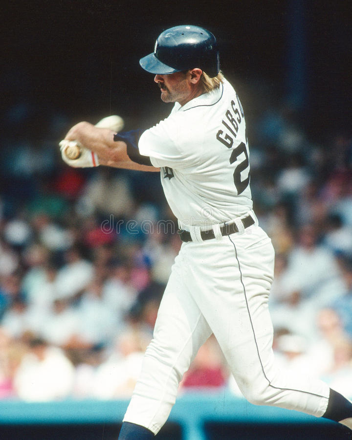 Kirk Gibson. Detroit Tigers slugger Kirk Gibson congratulates. (image taken from color slide royalty free stock images