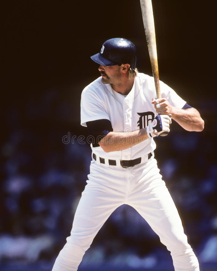 Kirk Gibson. Detroit Tigers slugger Kirk Gibson. (Image taken from a color slide stock photography