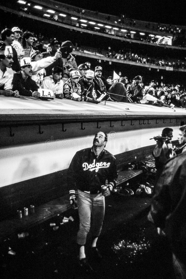 Kirk Gibson, Los Angeles Dodgers. LA Dodgers OF Kirk Gibson. (Image taken from color slide stock photos