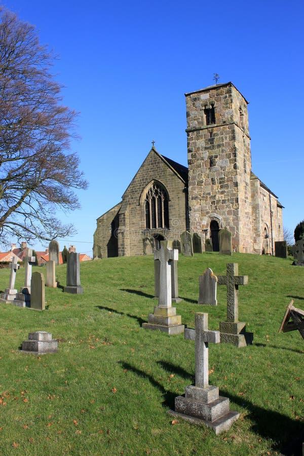 Kirk Hammerton village church, Yorkshire, England stock photography