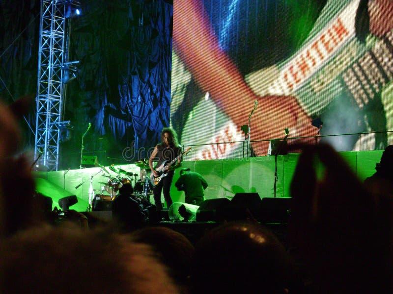 Kirk Hammet de Metallica fotos de stock royalty free