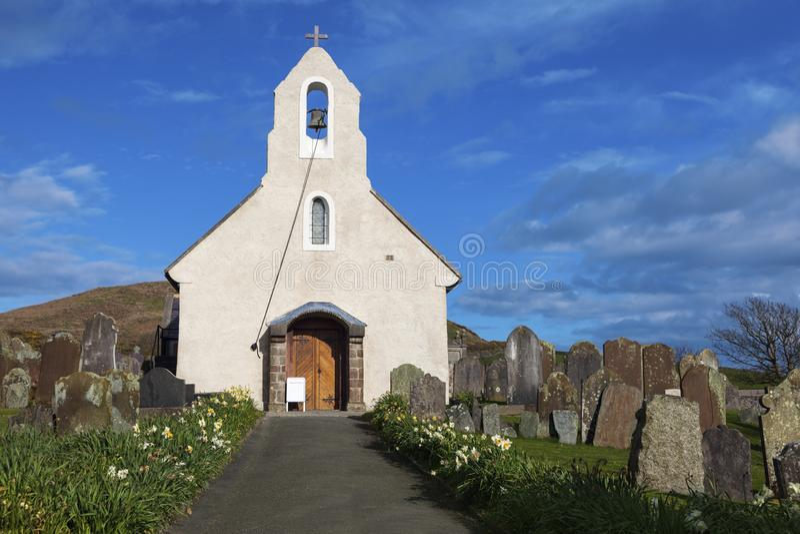 Kirk Maughold Church. Isle of Man. Douglas, Isle of Man stock photos