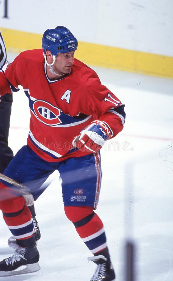 Kirk Muller. Montreal Canadiens star Kirk Muller #11. Image taken from color slide royalty free stock photography