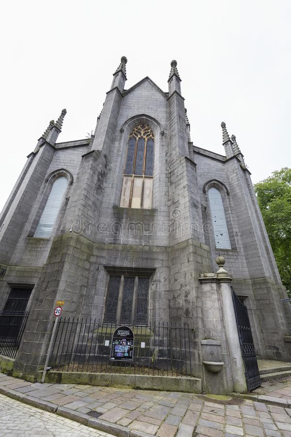 Kirk of saint nicholas. Portrait view of the Kirk of Saint Nicholas Uniting in Aberdeen, United Kingdom royalty free stock photography