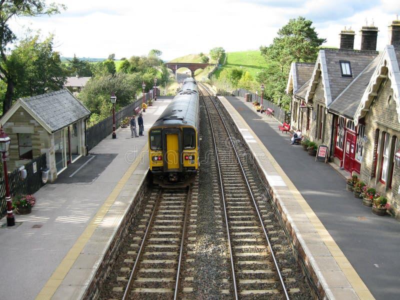 Kirkby斯蒂芬火车站,坎布里亚郡,英国 库存图片