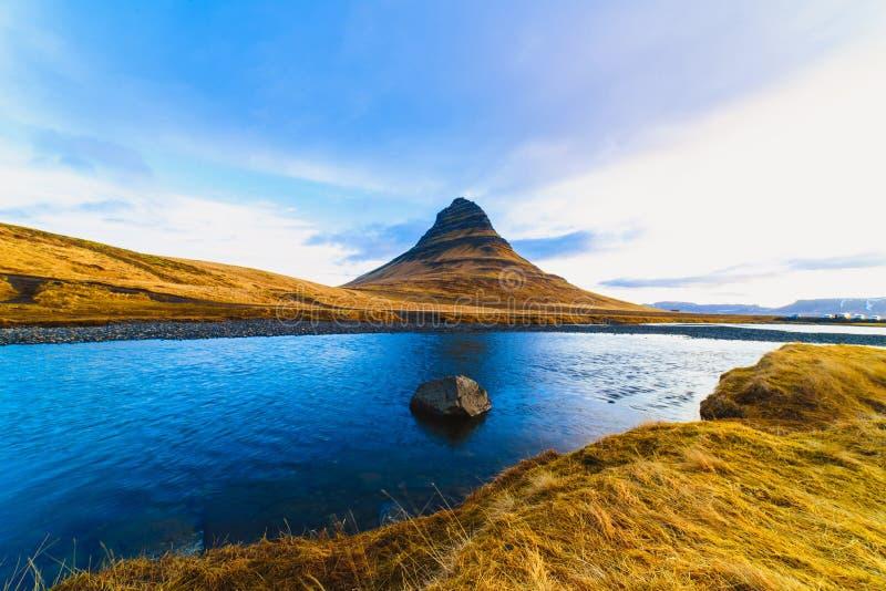 Kirkjufell山,冰岛 库存图片