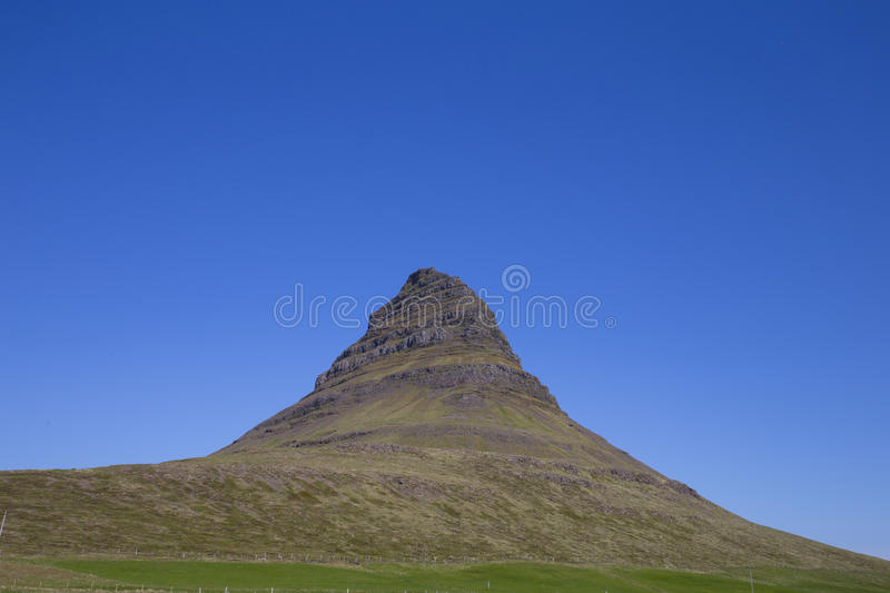Kirkjufell. A high mountain on the north coast of Iceland's Snaefellsnes peninsula stock image