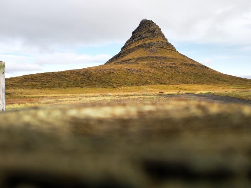 Kirkjufell mountain. Iceland, 2019, stedella stock image