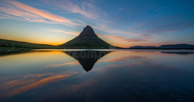 Kirkjufell royalty free stock photography