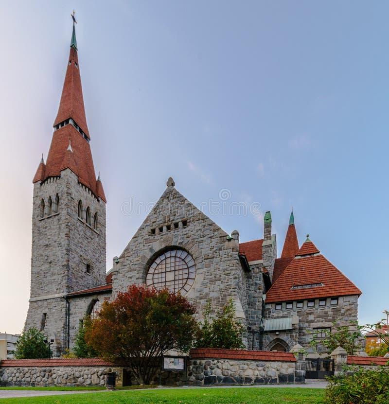 Kirkko de Tuomi Tampere, Finlande photos libres de droits