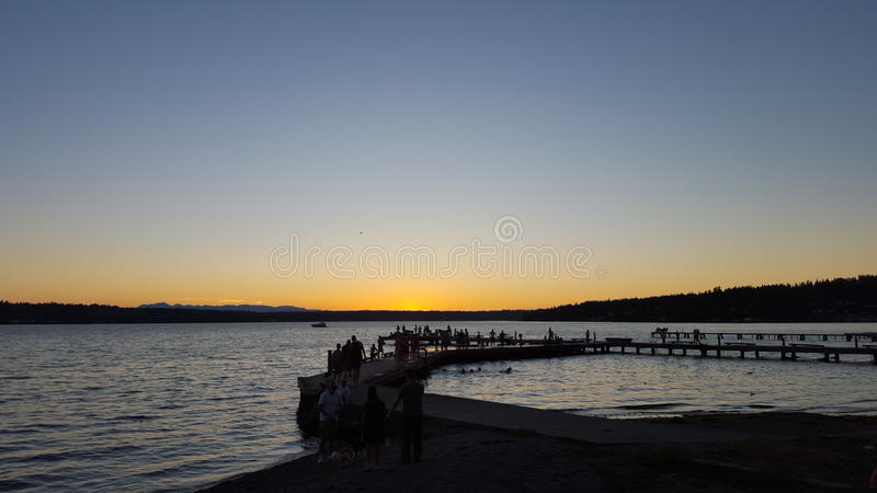 Kirkland-Ufergegend lizenzfreies stockbild