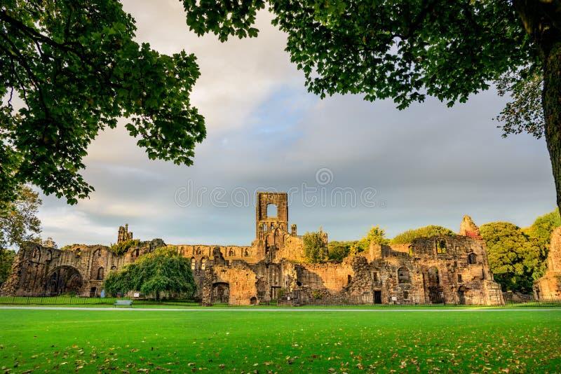 Kirkstall修道院,利兹西部约克夏,英国 免版税库存图片