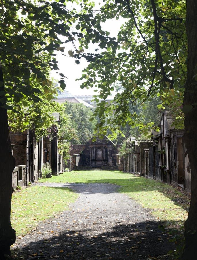 Kirkyard Greyfriars arkivbilder