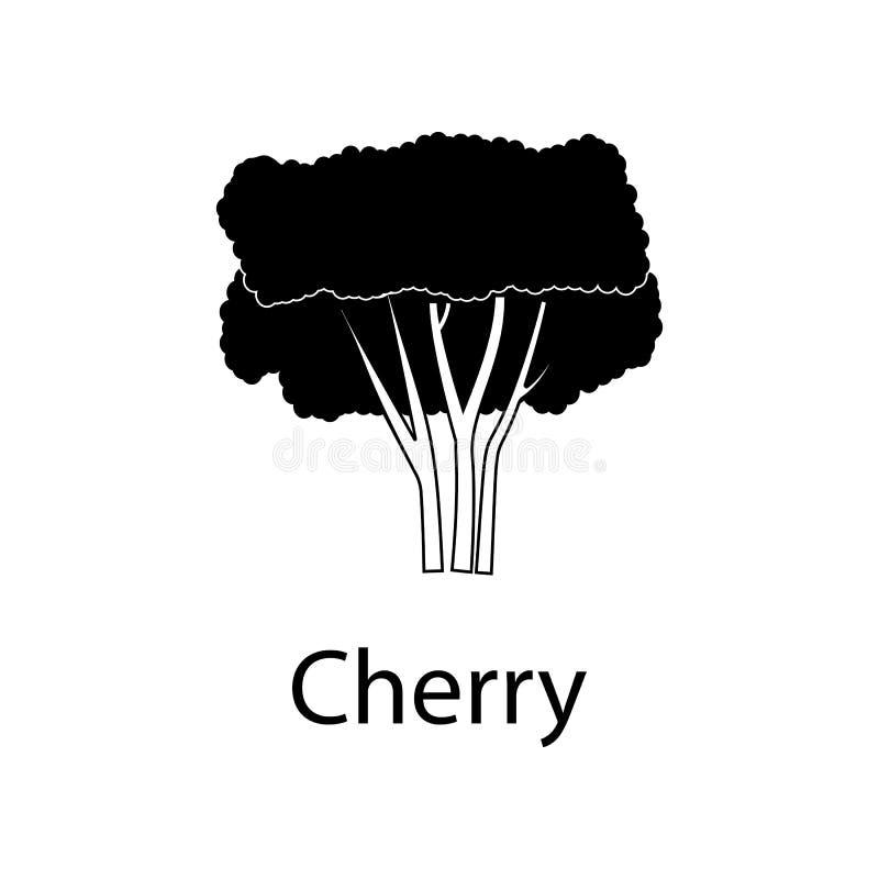Kirschbaumillustration Element der Betriebsikone für bewegliche Konzept und Netz apps Ausführliche Kirschbaumillustration kann fü lizenzfreie abbildung