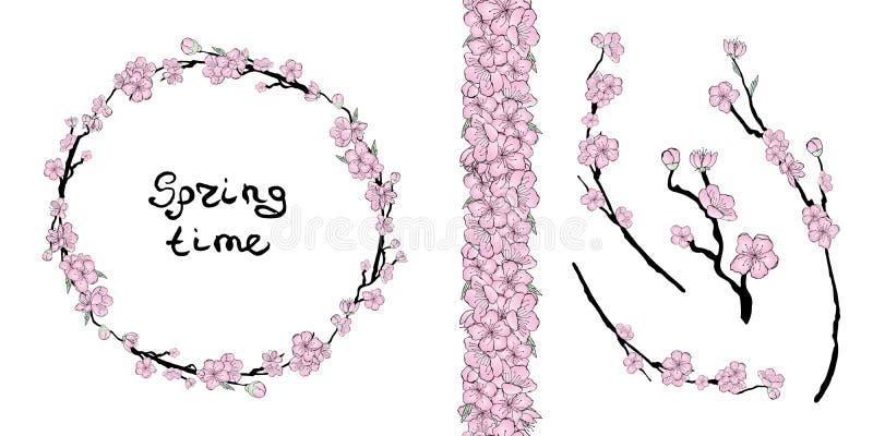 Kirschblüte-Steigung lizenzfreie abbildung
