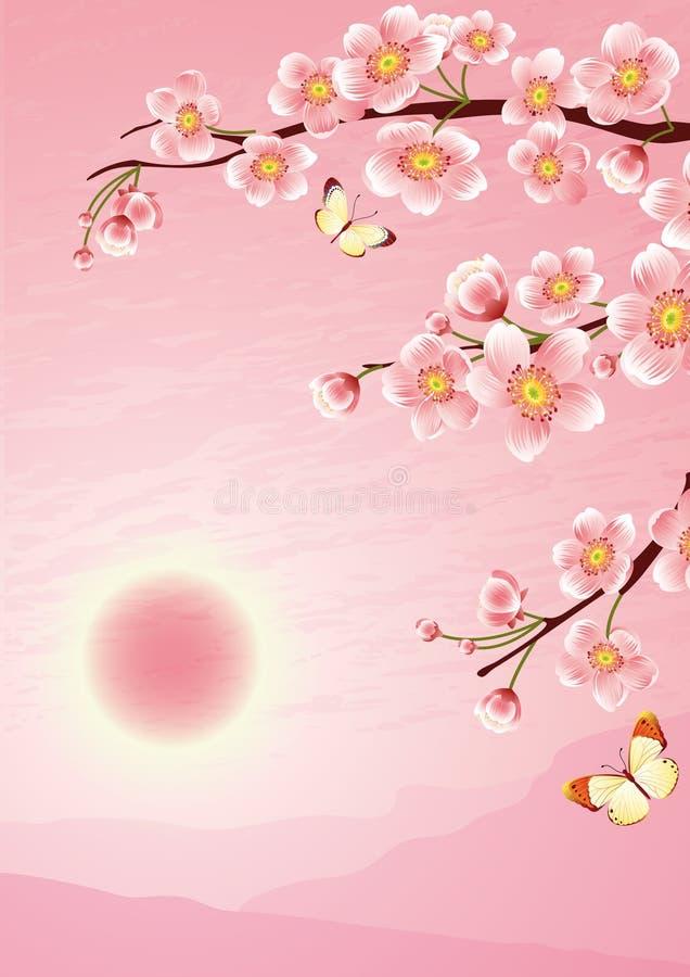 Download Kirschblüte vektor abbildung. Illustration von garten - 4402180