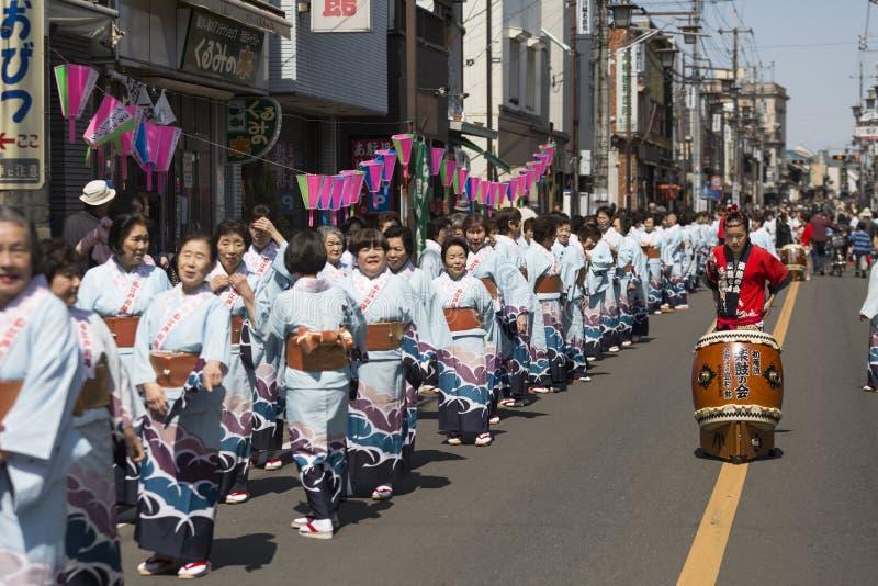 Kirschblüte-Festival Kawagoe, Japan lizenzfreie stockbilder