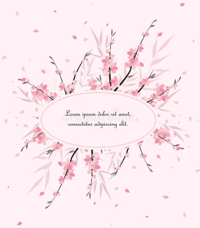 Kirschblüte-Niederlassungsdekoration lizenzfreie abbildung