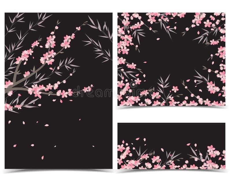 Kirschblüte-Niederlassungsdekoration stock abbildung