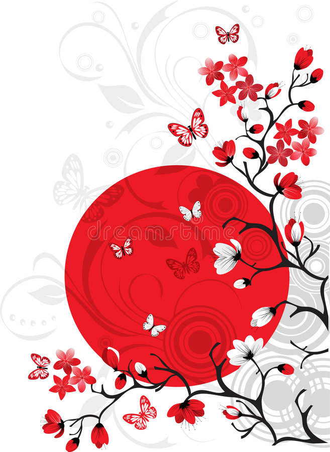 Kirschblütenhintergrund stock abbildung