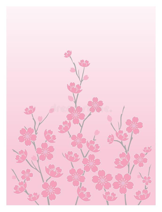 Kirsche Blüte-Vertikal stock abbildung