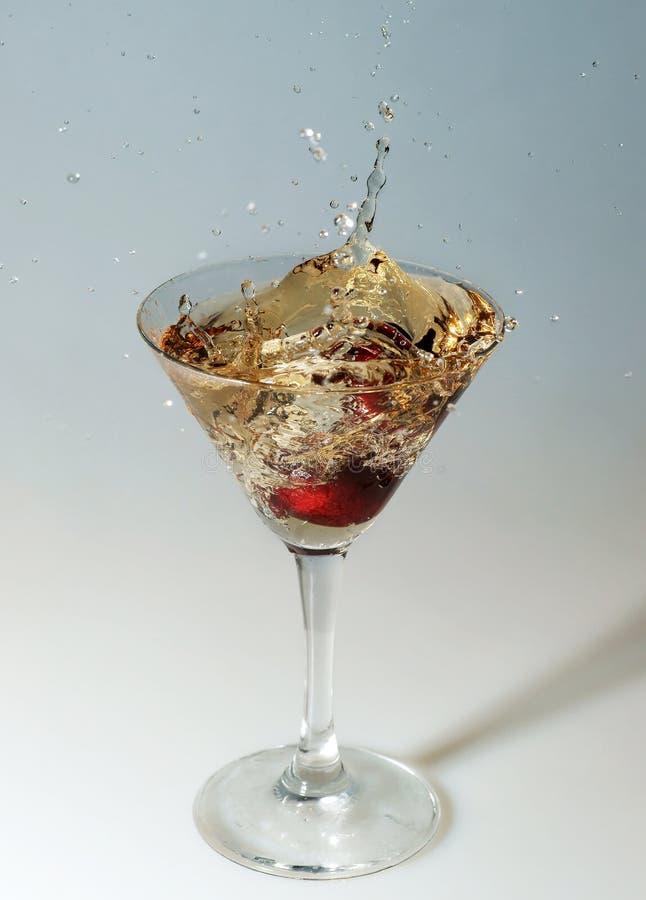 Kirsche in einem Glas stockfoto
