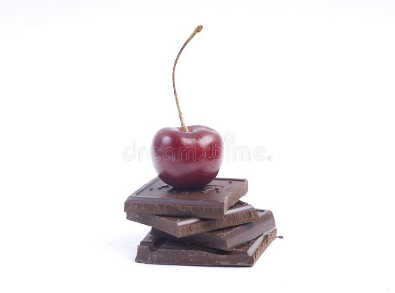 Kirsche und Schokolade stockfotos