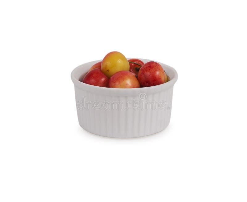 Kirschfrucht getrennt auf weißem Hintergrund lizenzfreies stockbild