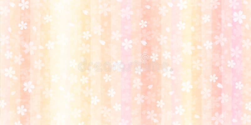 Kirschillustrationsmaterial das abgebildeter japanischer Frühling lizenzfreie abbildung