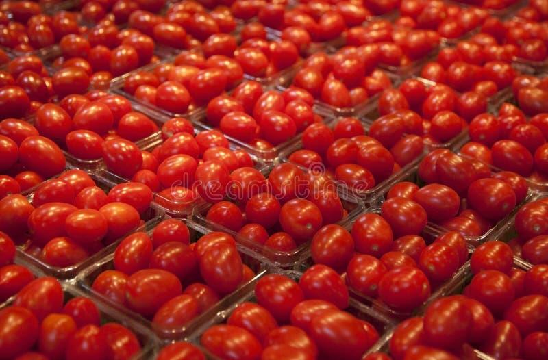 Kirschtomaten am Markt stockfotos
