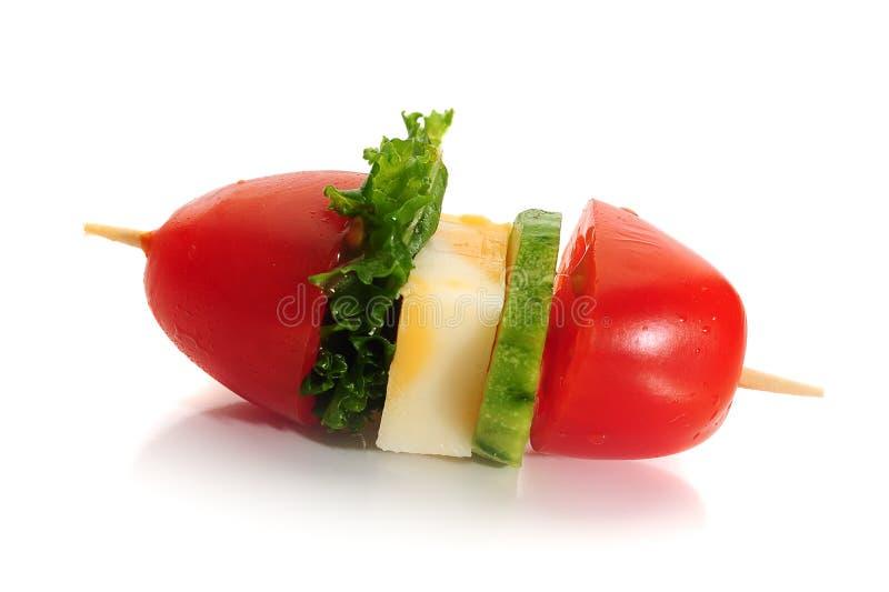 Kirschtomaten mit Mozzarella stockbild
